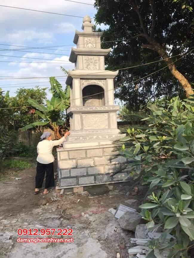 mộ tháp đá tại Trà Vinh đẹp