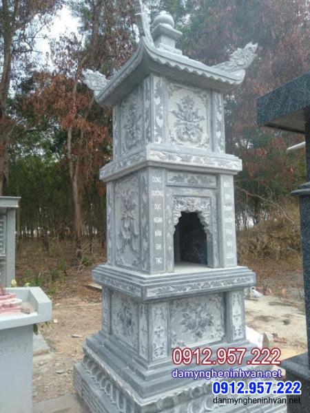 mộ tháp phật giáo bằng đá đẹp tại Bình Dương