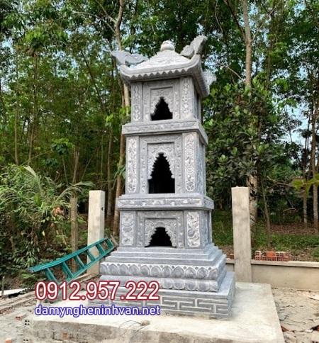 tháp mộ bằng đá để tro cốt đẹp nhất tại Hậu Giang