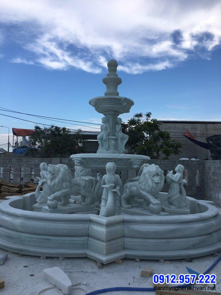 Tháp phun nước bằng đá khối Ninh Bình