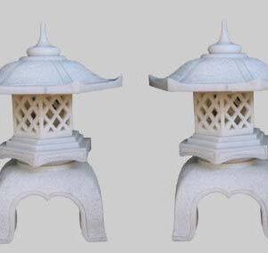Mẫu đèn đá sân vườn biệt thự bằng đá trắng