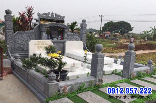 Mẫu mộ song thân bằng đá tự nhiên