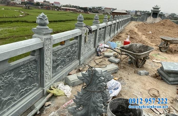 Xây dựng lan can đá khu lăng mộ