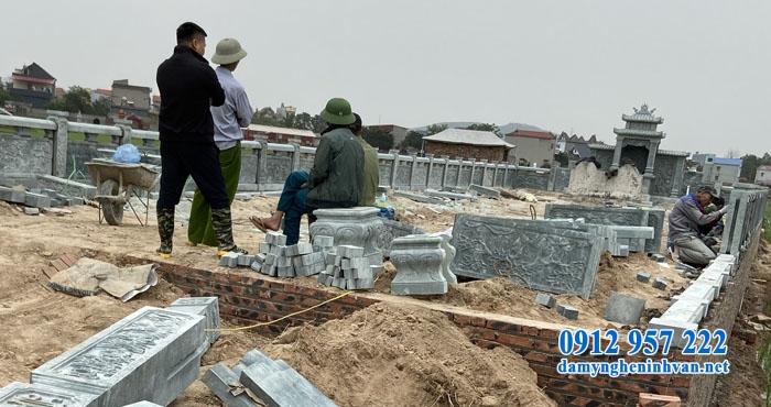 Thi công lăng mộ gia đình tại Bắc Giang