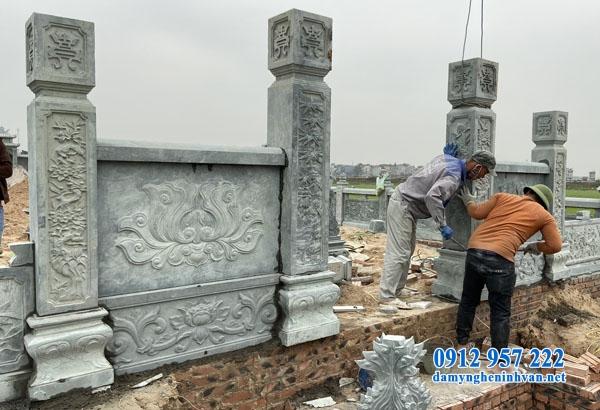 Xây dựng cổng đá khu lăng