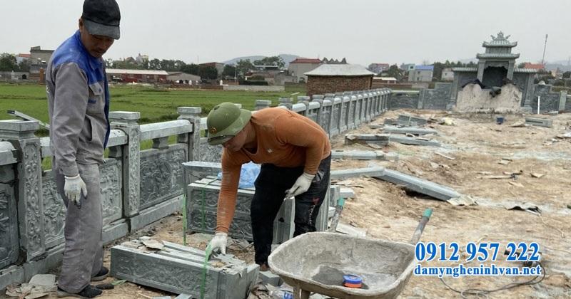 Thi công kiến trúc khu lăng mộ tại Bắc Giang