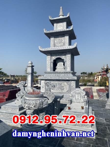 Mẫu mộ tháp Phật giáo bằng đá đẹp