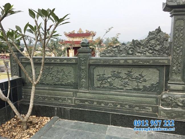 Lan can nghĩa trang bằng đá xanh rêu Thanh Hóa