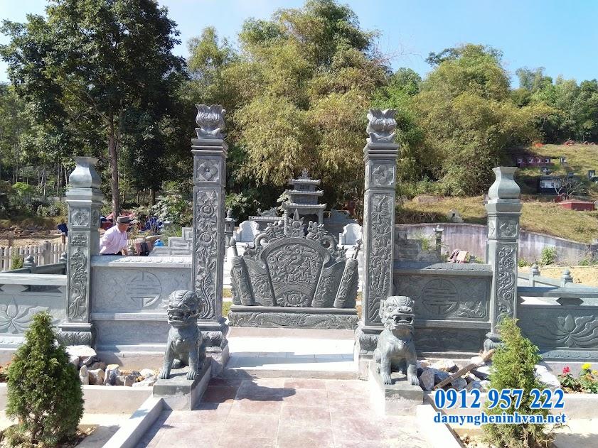 Tổng thể khu lăng mộ đá xanh tại Thái Nguyên