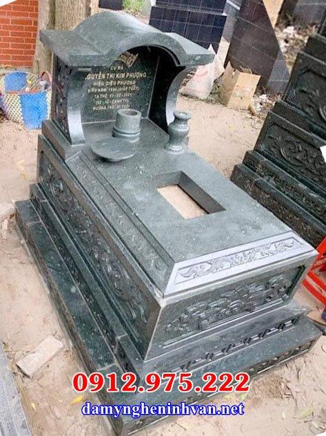 Mẫu mộ đá xanh chế tác tại Ninh Bình