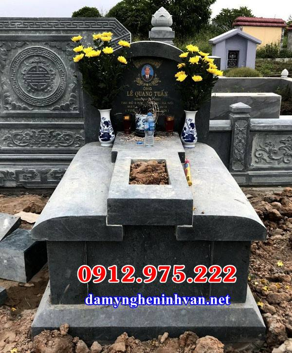 Mẫu mộ đá xanh Thanh Hóa đẹp