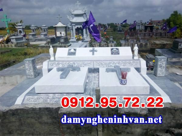 Vẻ đẹp hiện đại của mộ đá hoa cương công giáo