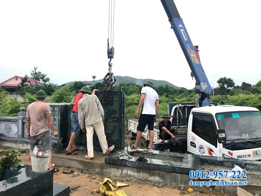 Xây dựng lăng mộ đá xanh tại Thái nguyên